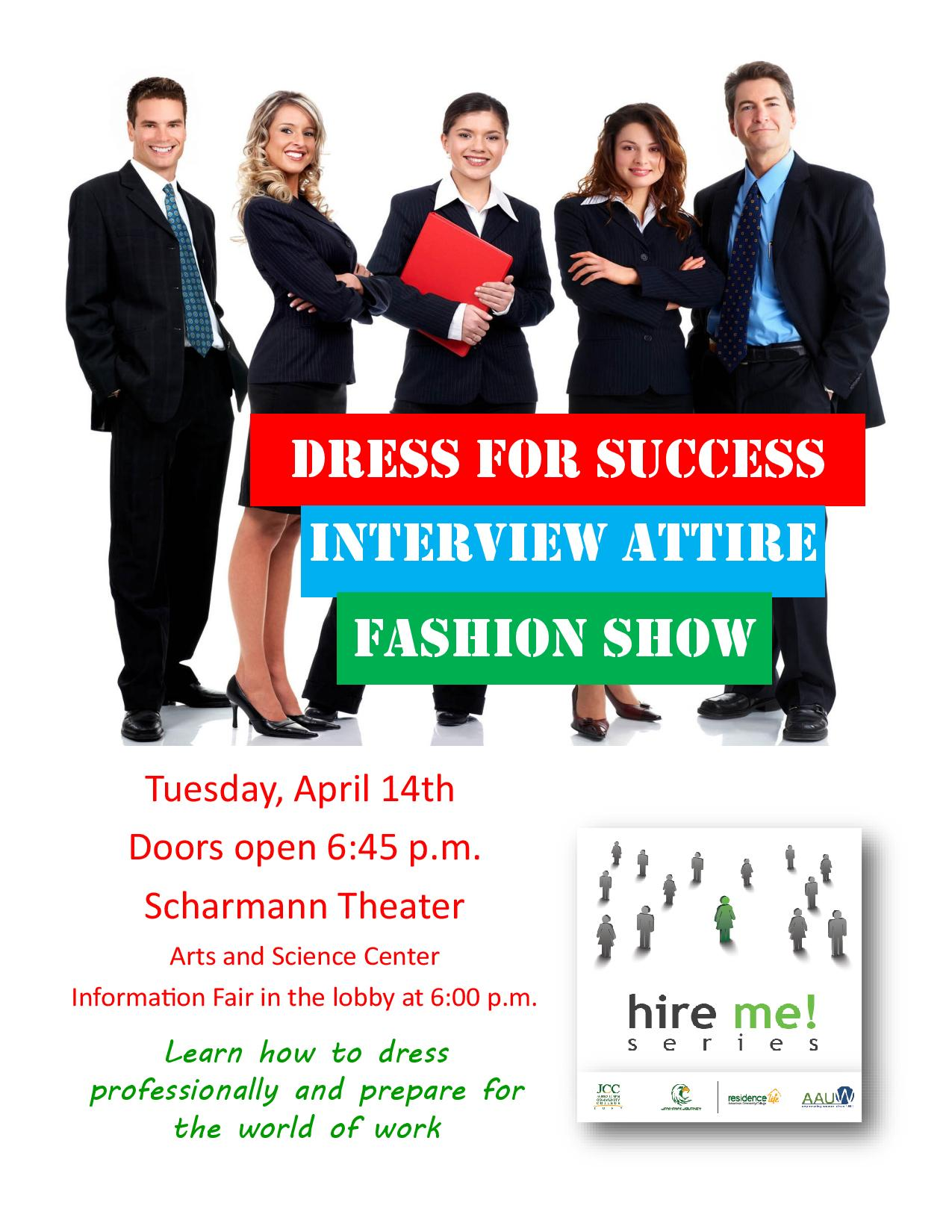 Dress for success fashion show