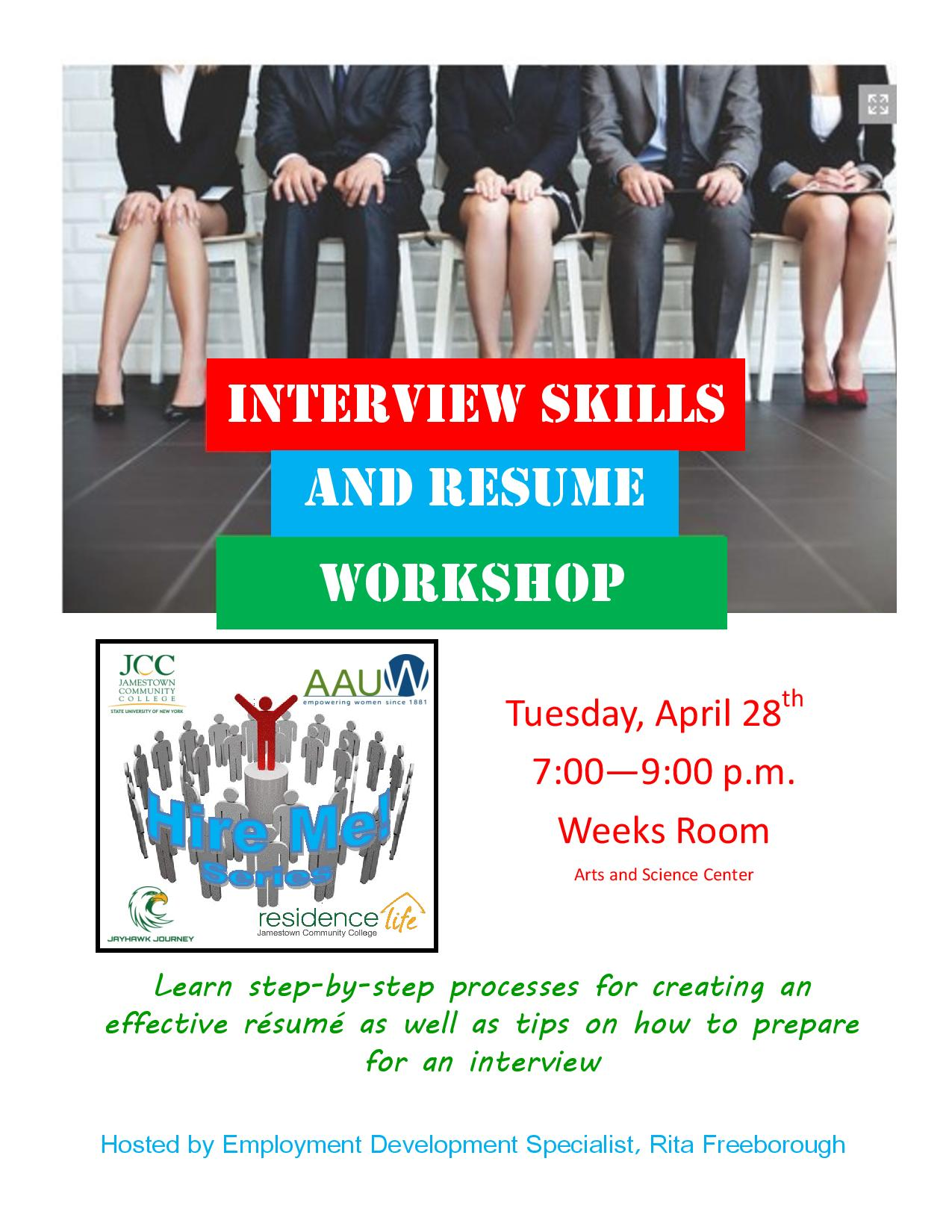 flyer interview skills and resume workshop page 001