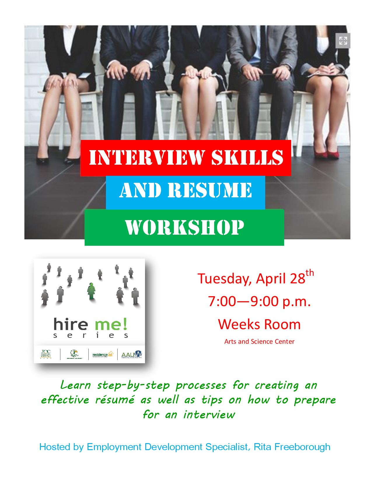AAUW FlyerInterview Skills and Resume Workshoppage001 Jamestown