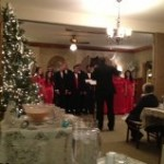 JHS Acapella Madrigal singers performing at the Holiday Party 2013.