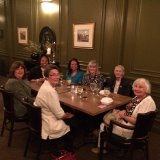 AAUW NYS President, Erwina Martin, at the Land Mark with former AAUW Jamestown Branch Presidents