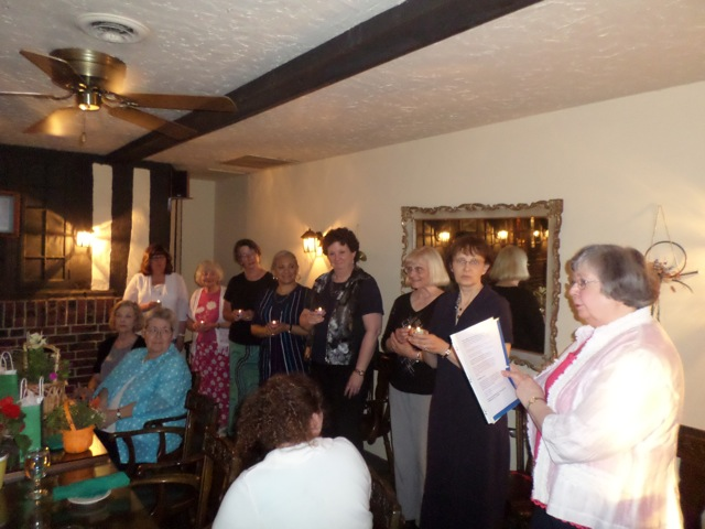 The Annual Dinner held on June 19th was a celebration of the year's accomplishments and the installation of officers.